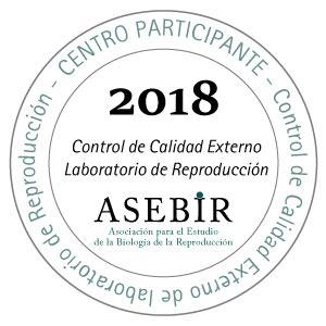 Logo Accréditation ASEBIR, Association espagnole pour l'Étude de la Biologie de la Reproduction