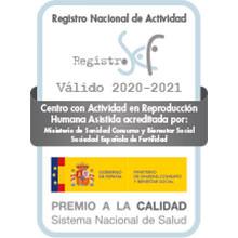 Logo Acreditación Sociedad Española de Fertilidad SEF